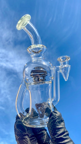 Tube Sock Glass Hustle Brain Bubbler Wig Wag Ball Black & White - TheSmokeyMcPotz Collection