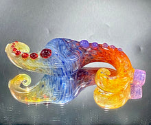 "Load image into Gallery viewer, Global Glassworks ""S"" Curl Spoon Full Color Yellow Tail - TheSmokeyMcPotz Collection"