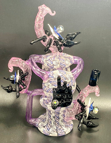 Eka Glass Headiest Piece of the Year Double Disc Recycler - TheSmokeyMcPotz Collection
