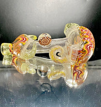 Load image into Gallery viewer, Global Glassworks Heady AF UV Spoon Red-Yellow Red Millie - TheSmokeyMcPotz Collection