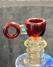 Load image into Gallery viewer, Mary Blows Glass Red Ring Handle w- Opal 14mm - TheSmokeyMcPotz Collection