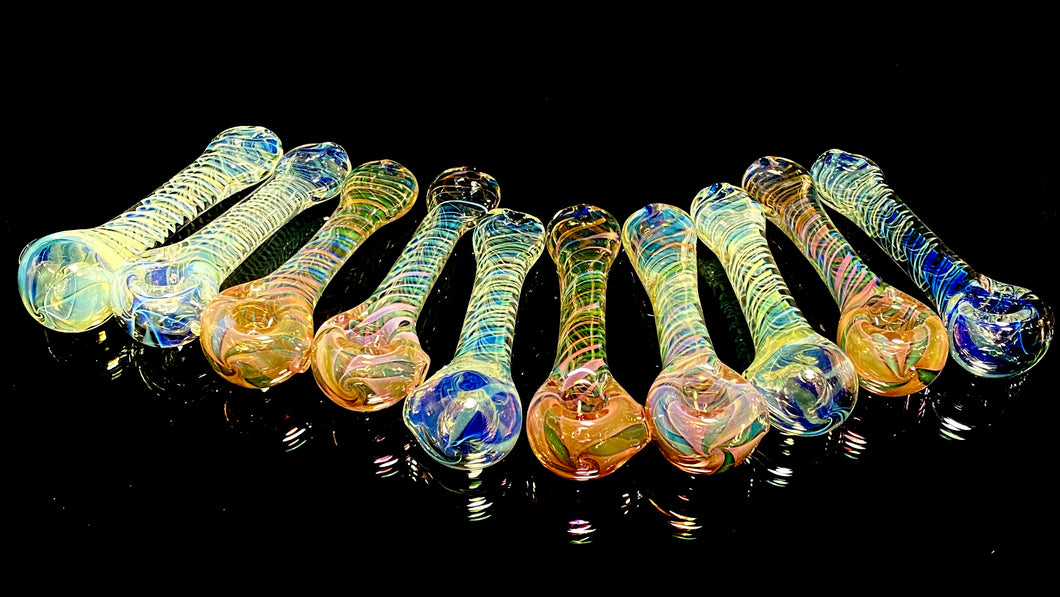 Stress Less Glass Large Fumed Spoon - TheSmokeyMcPotz Collection