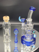 Load image into Gallery viewer, Davin Titland Blue Custom Rig Set with Marbles - TheSmokeyMcPotz Collection