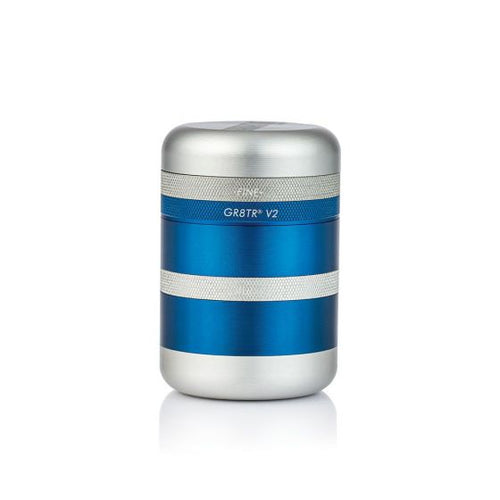 Kannastor GR8TR Solid 4-Part Body Herb Grinder - Matte BLUE - TheSmokeyMcPotz Collection