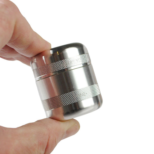 GR8TR Mini Grinder - Silver - TheSmokeyMcPotz Collection