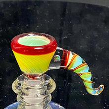 Load image into Gallery viewer, Mary Blows Glass Yellow-Red Martini Horn Handle 14mm - TheSmokeyMcPotz Collection