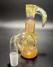 Load image into Gallery viewer, DZ Glass Fumed Wrap N Rake Dry Ash Catcher Set 18mm - TheSmokeyMcPotz Collection