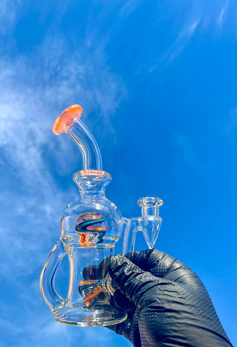 Tube Sock Glass Hustle Brain Bubbler Wig Wag Ball Rig Multi-Color - TheSmokeyMcPotz Collection