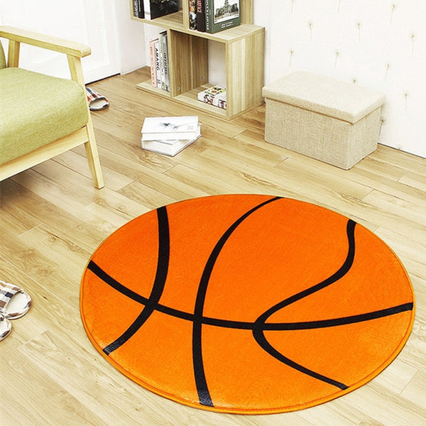 Anti-slip Polyester Ball Round Carpet