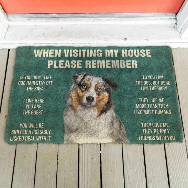 3D Dogs House Doormat