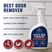 Pro Strength Stain & Odor Eliminator - Enzyme-Powered Pet Odor & Stain Remover for Dog and Cat Urine