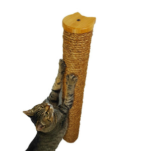 Wall Mounted Cat Scratching Post with Manila Rope