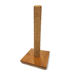Solid Cherry Cat Scratching Post with Manila Rope - 30 Inches Tall