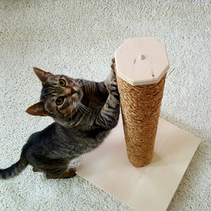 Natural Cat Scratching Post with Manila Rope