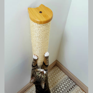 Wall Mounted Cat Scratching Post with Sisal Rope