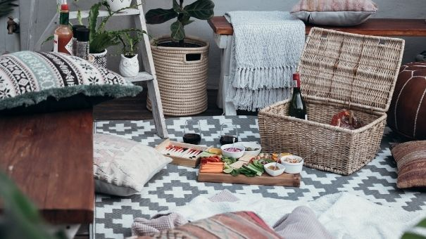 celebrate with outdoor rugs and outdoor cushions