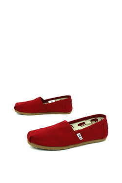Red Canvas Women's Classics toms 001001B07