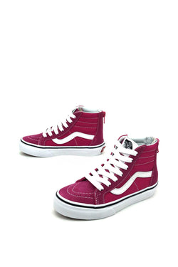 SK8-Hi Zip vans vn-0a3276ovy Vans big kids Vans very berry/true white