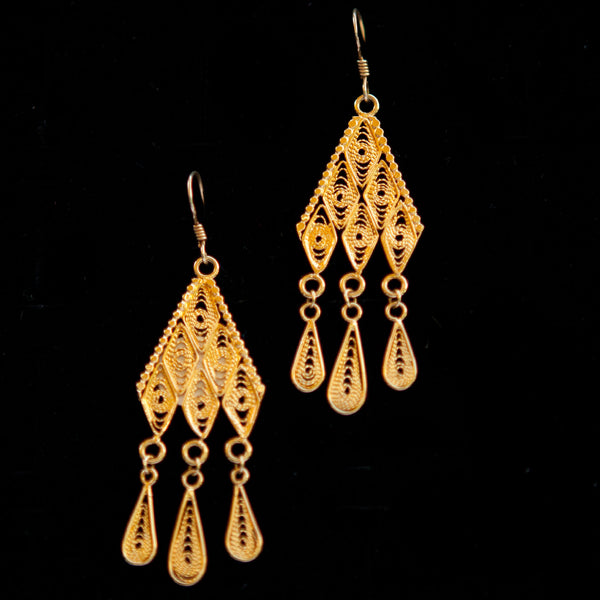 Triangle Gold Plated Dangle