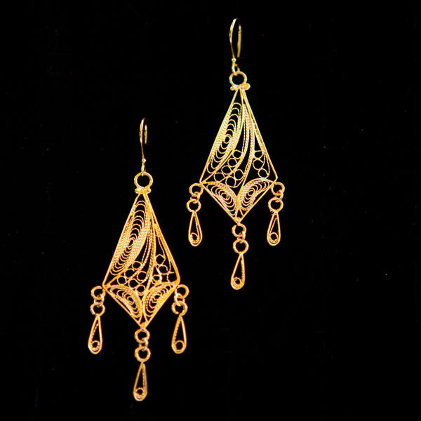 Gold Plated Teardrop Dangle