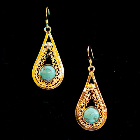 Teardrop Dangle with Stone