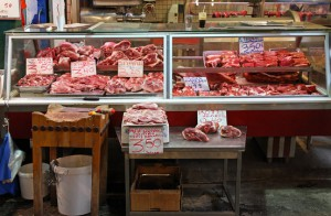 Traditional Butcher Shop Meat Counter