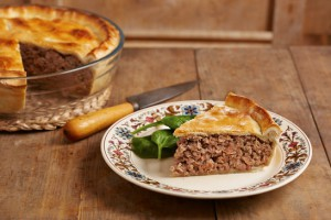 Traditional meat pie on a dish