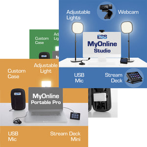 ESS MyOnline Bundled solutions for the best lighting, sound and control when streaming, recording or working remotely