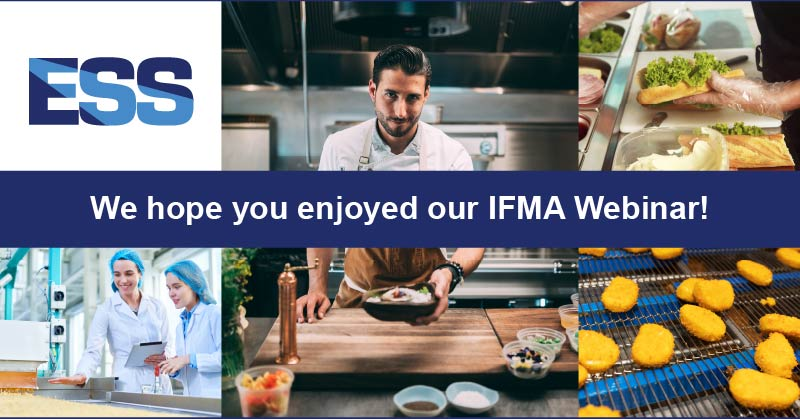 Thank you for joining our Webinar! Images of chef's doing demonstrations, safety training and food manufacturing.