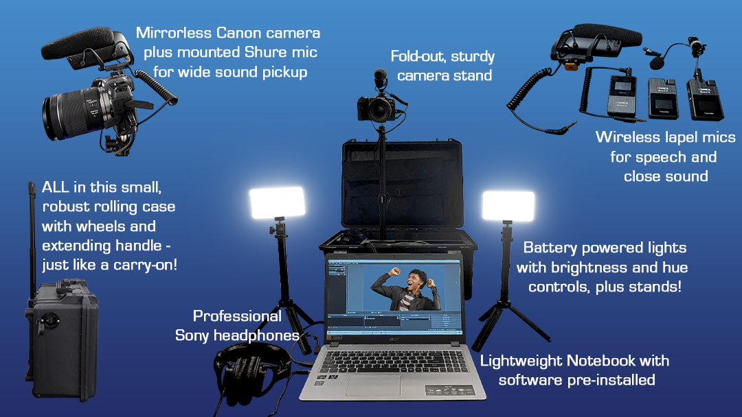 ESS MyVideo GO Case - everything you need in one wheeled case!