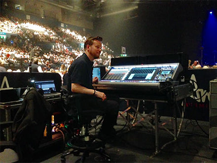 Tom at the sound mixing console