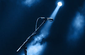 Mic with lights