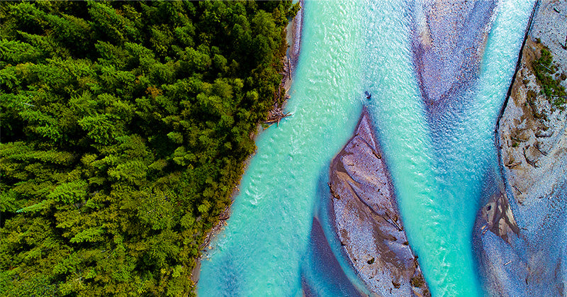 Aerial Drone photo of a river