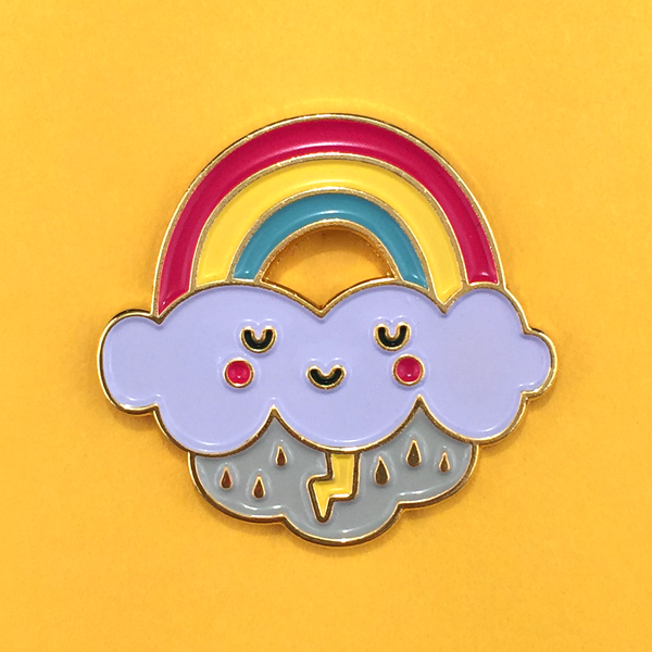 Rainbow Cloud Pin