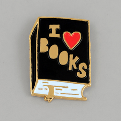 I Heart Books Pin