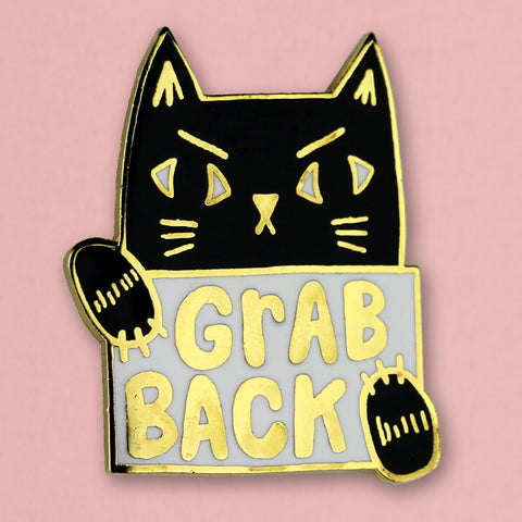 Grab Back Cat Pin