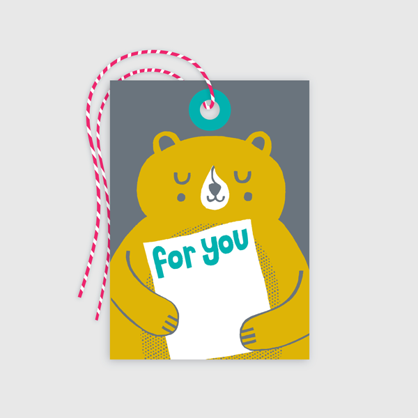 Bear Gift Tag 10 pack