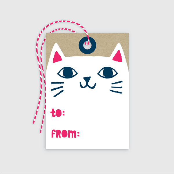 Cat Gift Tag 10 Pack Handmade By Allison Cole
