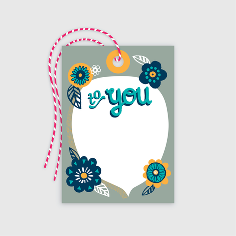 Flowers Gift Tag 10 pack