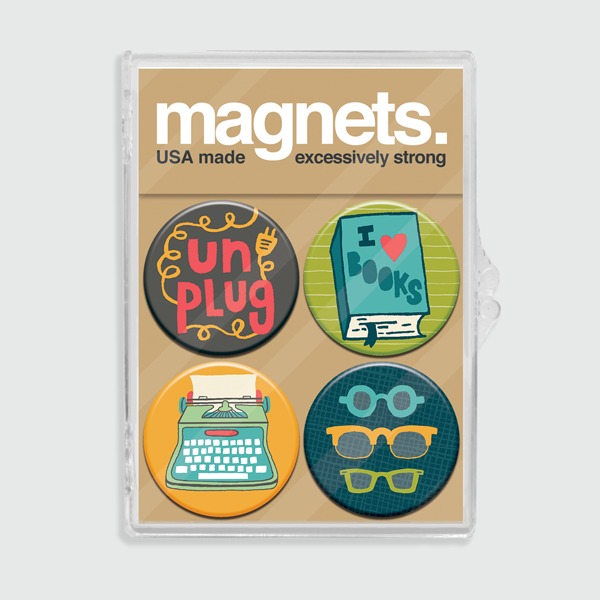 Bookworm Magnet Set