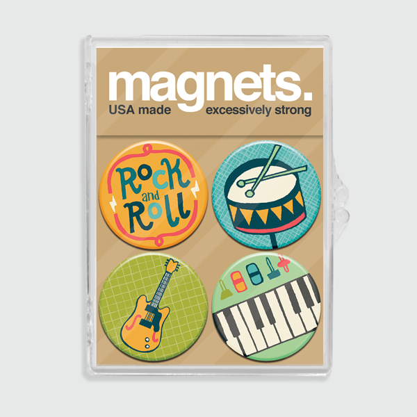 Rock and Roll Magnet Set