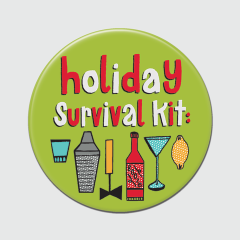 Holiday Survival Kit Big Magnet