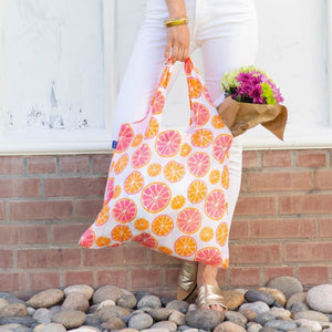 Eco Friendly Shopper Bag paired w/Shimmer Silicone Bracelet Key Chain