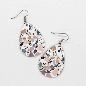Teardrop Spring Cork Earrings - Multiple Colors & Prints