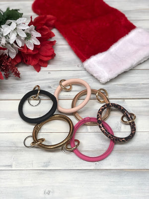 Faux Leather Key Ring - Multiple Color Options