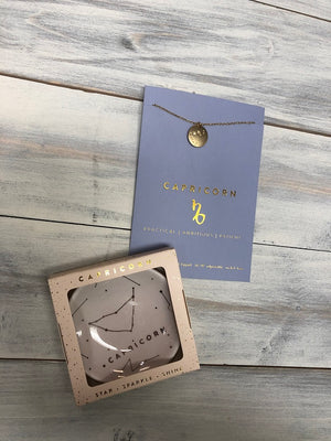 Zodiac Necklace and Dish Set - Multiple Options Available