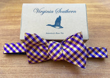 Clemson orange and purple silk bow tie college