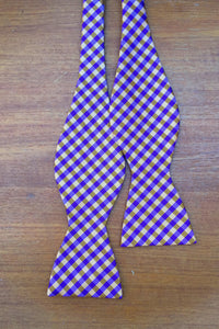 Clemson orange and purple silk bow tie college university