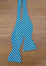 Cotton Bow Tie Green White Checkered College