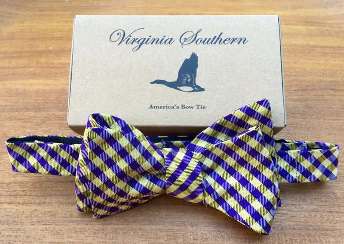 JMU Silk College Bow Tie